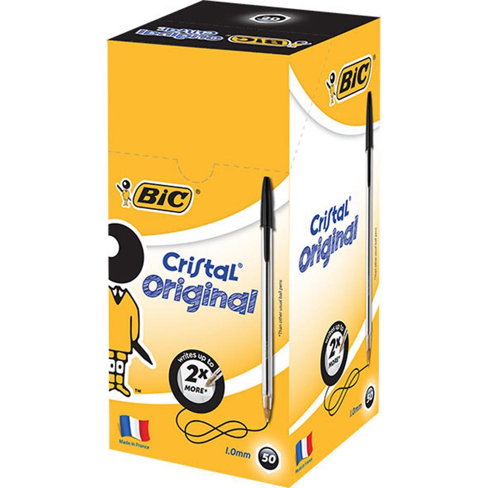 Bic Cristal Original Ballpoint Pen Medium 1mm Black Box of 50