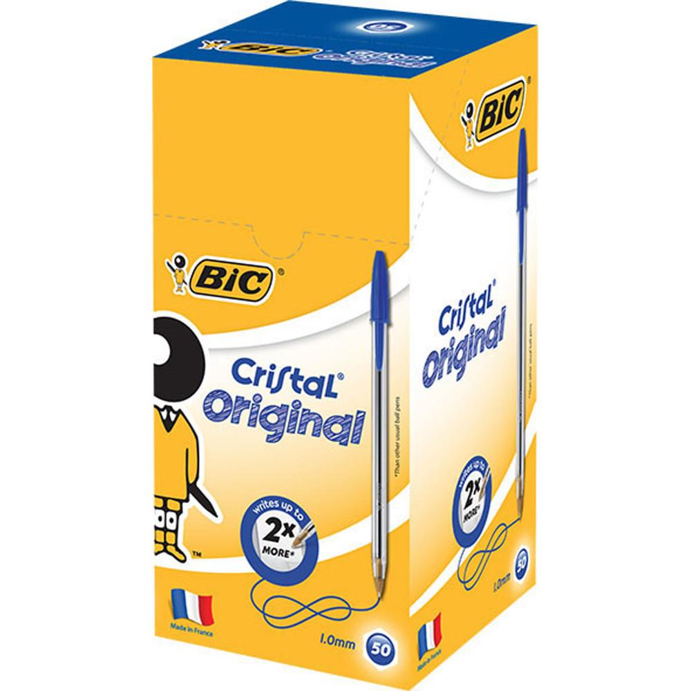 Bic Cristal Original Ballpoint Pen Medium 1mm Blue Box of 50