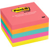 Post-It 654-5PK Notes Neon 76x76mm Capetown Assorted 100 Sheets Pack of 5