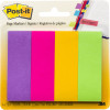 Post-It 671-4AU Page Markers 22x73mm Jaipur Assorted 50 Sheet Pad Pack of 4