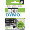 Dymo D1 Label Cassette Tape 9mmx7m Black on White