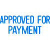XStamper Stamp CX-BN 1025 Approved For Payment Blue