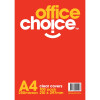 Office Choice Binding Covers A4 250 Micron Clear Pack of 100