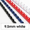 Rexel Plastic Binding Comb 10mm 65 Sheet Capacity White Pack of 100