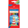 Faber-Castell Hexagonal Colour Pencils Assorted Pack of 12