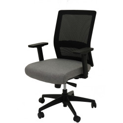 Gesture Task Chair Mesh Back Adjustable Arms Seat Slide Black Mesh Grey Fabric Seat