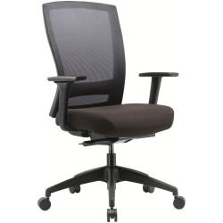 Buro Mentor Mesh Back Task Chair With Arms Nylon Base Black Fabric Seat Mesh Back