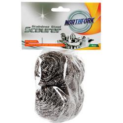 Northfork Scourers Stainless Steel Pack of 4