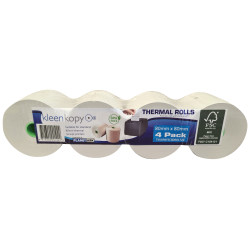 KLEENKOPY Thermal Register Rolls 80mm x 80mm x 17mm 75m Roll Pack of 4