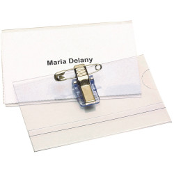 Rexel Convention Card Holder With Pin & Clip Box Of 50