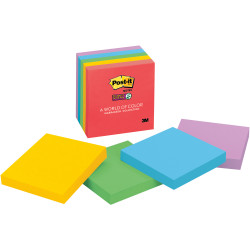 Post-It 654-5SSAN Super Sticky Notes 76x76mm Marrakesh 90 Sheet Pack of 5