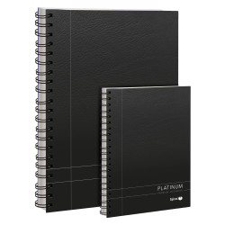 Spirax 401 Notebook Platinum A5 Ruled 90gsm 200 Page Black Side Opening