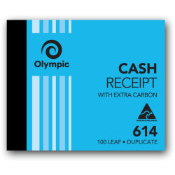 Olympic 614 Carbon Book Duplicate 100x125mm Cash Receipt 100 Leaf