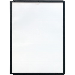 Durable Sherpa Display System Panels A4 For Sherpa Extension Module Black Pack Of 5