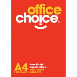 Office Choice Laser Copier & Inkjet Labels 1UP 199.6x289mm