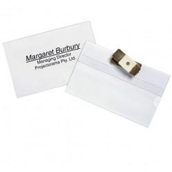 Rexel Magnetic Badge Holder 90x60mm Name Pack Of 10