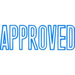 XStamper Stamp CX-BN 1008 Approved Blue