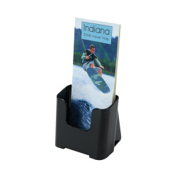 Deflect-O Brochure Holder DL Sustainable Office 60% Recycled Black