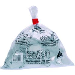 Kevron Key Tags Id5 56x30mm Clear Pack Of 50
