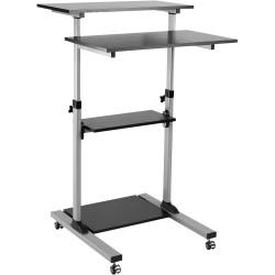 Ergovida Mobile Computer Cart With Lockable Castors Height Adjustable