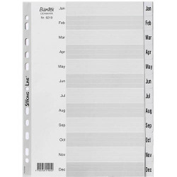 BANTEX INDEX DIVIDER JAN-DEC TAB A4 GREY