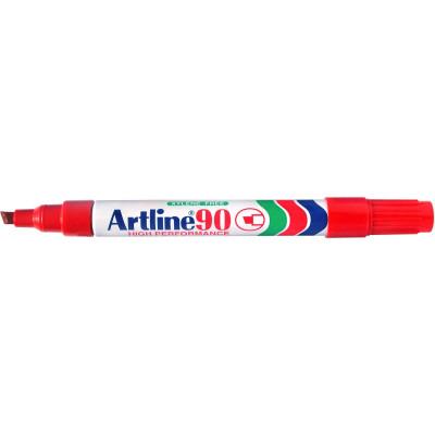 Artline 90 Permanent Marker Chisel 2-5mm Red