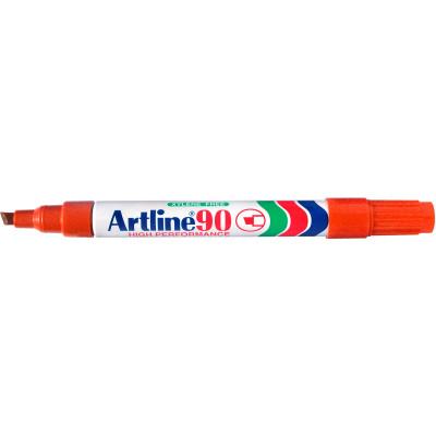 Artline 90 Permanent Markers Chisel 2-5mm Orange Box Of 12