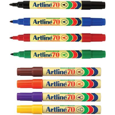 Artline 70 Permanent Marker Bullet 1.5mm 8 Assorted Pack Of 12
